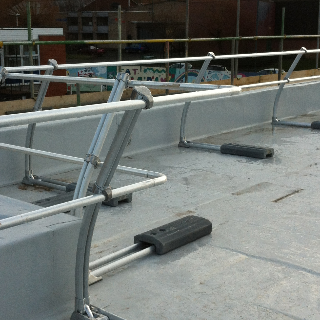 Latchways Versirail Rooftop Guardrail Mantech Safety